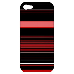 Abstract Of Red Horizontal Lines Apple Iphone 5 Hardshell Case