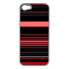 Abstract Of Red Horizontal Lines Apple Iphone 5 Case (silver)