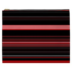 Abstract Of Red Horizontal Lines Cosmetic Bag (xxxl)