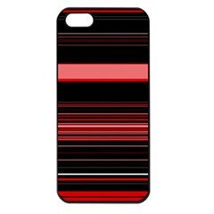 Abstract Of Red Horizontal Lines Apple iPhone 5 Seamless Case (Black)