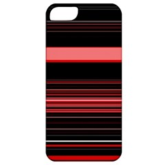 Abstract Of Red Horizontal Lines Apple Iphone 5 Classic Hardshell Case