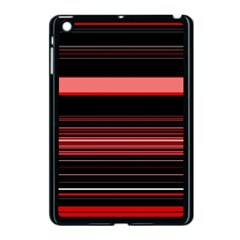 Abstract Of Red Horizontal Lines Apple Ipad Mini Case (black)
