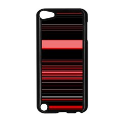 Abstract Of Red Horizontal Lines Apple Ipod Touch 5 Case (black)