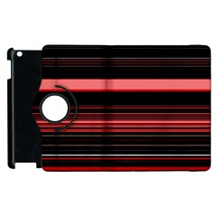 Abstract Of Red Horizontal Lines Apple Ipad 2 Flip 360 Case