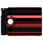 Abstract Of Red Horizontal Lines Apple iPad Mini Flip 360 Case Front
