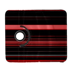Abstract Of Red Horizontal Lines Galaxy S3 (flip/folio)