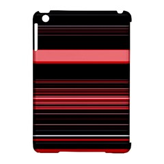 Abstract Of Red Horizontal Lines Apple Ipad Mini Hardshell Case (compatible With Smart Cover)