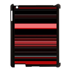 Abstract Of Red Horizontal Lines Apple Ipad 3/4 Case (black)