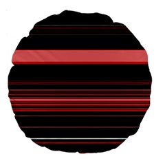 Abstract Of Red Horizontal Lines Large 18  Premium Round Cushions