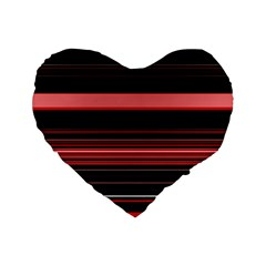 Abstract Of Red Horizontal Lines Standard 16  Premium Heart Shape Cushions