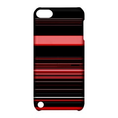 Abstract Of Red Horizontal Lines Apple Ipod Touch 5 Hardshell Case With Stand