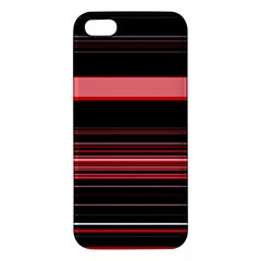 Abstract Of Red Horizontal Lines Apple Iphone 5 Premium Hardshell Case