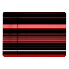 Abstract Of Red Horizontal Lines Samsung Galaxy Tab 10 1  P7500 Flip Case