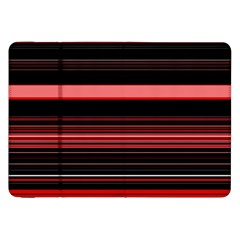 Abstract Of Red Horizontal Lines Samsung Galaxy Tab 8 9  P7300 Flip Case