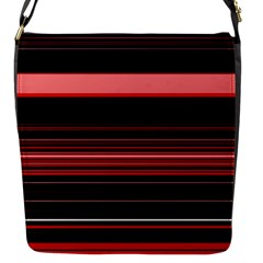 Abstract Of Red Horizontal Lines Flap Messenger Bag (s)