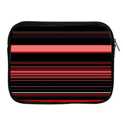 Abstract Of Red Horizontal Lines Apple Ipad 2/3/4 Zipper Cases