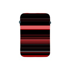 Abstract Of Red Horizontal Lines Apple Ipad Mini Protective Soft Cases
