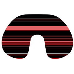 Abstract Of Red Horizontal Lines Travel Neck Pillows