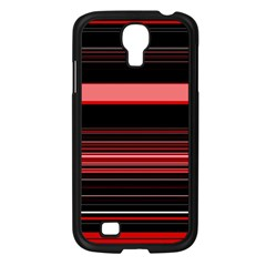 Abstract Of Red Horizontal Lines Samsung Galaxy S4 I9500/ I9505 Case (black)