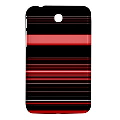 Abstract Of Red Horizontal Lines Samsung Galaxy Tab 3 (7 ) P3200 Hardshell Case