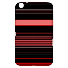Abstract Of Red Horizontal Lines Samsung Galaxy Tab 3 (8 ) T3100 Hardshell Case