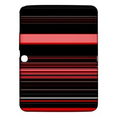 Abstract Of Red Horizontal Lines Samsung Galaxy Tab 3 (10 1 ) P5200 Hardshell Case