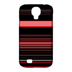Abstract Of Red Horizontal Lines Samsung Galaxy S4 Classic Hardshell Case (pc+silicone)