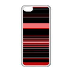 Abstract Of Red Horizontal Lines Apple Iphone 5c Seamless Case (white)