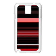 Abstract Of Red Horizontal Lines Samsung Galaxy Note 3 N9005 Case (white)