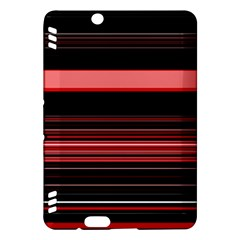 Abstract Of Red Horizontal Lines Kindle Fire Hdx Hardshell Case