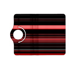 Abstract Of Red Horizontal Lines Kindle Fire Hd (2013) Flip 360 Case