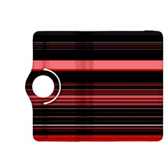 Abstract Of Red Horizontal Lines Kindle Fire Hdx 8 9  Flip 360 Case