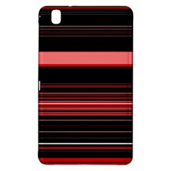 Abstract Of Red Horizontal Lines Samsung Galaxy Tab Pro 8 4 Hardshell Case