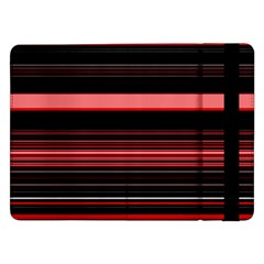 Abstract Of Red Horizontal Lines Samsung Galaxy Tab Pro 12 2  Flip Case