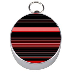 Abstract Of Red Horizontal Lines Silver Compasses