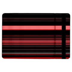 Abstract Of Red Horizontal Lines Ipad Air Flip