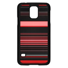 Abstract Of Red Horizontal Lines Samsung Galaxy S5 Case (black)