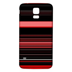 Abstract Of Red Horizontal Lines Samsung Galaxy S5 Back Case (white)