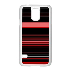 Abstract Of Red Horizontal Lines Samsung Galaxy S5 Case (white)