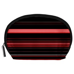 Abstract Of Red Horizontal Lines Accessory Pouches (large)
