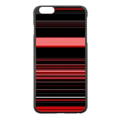 Abstract Of Red Horizontal Lines Apple Iphone 6 Plus/6s Plus Black Enamel Case