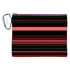 Abstract Of Red Horizontal Lines Canvas Cosmetic Bag (xxl)