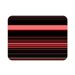 Abstract Of Red Horizontal Lines Double Sided Flano Blanket (mini)