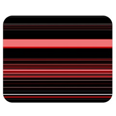 Abstract Of Red Horizontal Lines Double Sided Flano Blanket (medium)