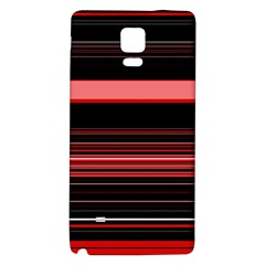 Abstract Of Red Horizontal Lines Galaxy Note 4 Back Case