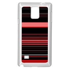 Abstract Of Red Horizontal Lines Samsung Galaxy Note 4 Case (white)