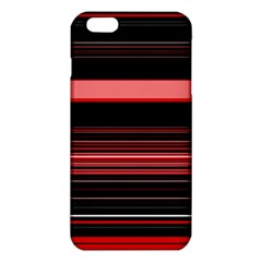 Abstract Of Red Horizontal Lines iPhone 6 Plus/6S Plus TPU Case