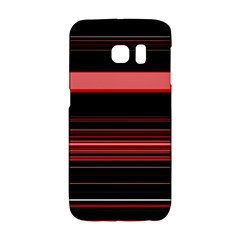 Abstract Of Red Horizontal Lines Galaxy S6 Edge