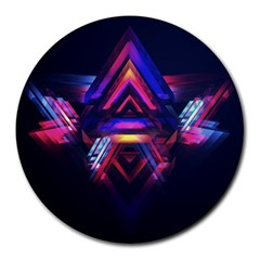 Abstract Desktop Backgrounds Round Mousepads