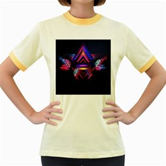 Abstract Desktop Backgrounds Women s Fitted Ringer T Shirts